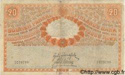 20 Markkaa FINLANDE  1909 P.011b TB+