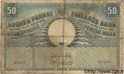 50 Markkaa FINLANDE  1909 P.012a B à TB