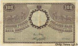 100 Markkaa FINLANDE  1909 P.022 TTB