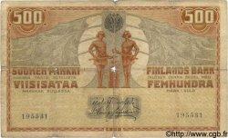 500 Markkaa FINLANDE  1909 P.023 pr.TB
