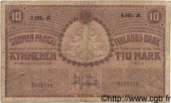 10 Markkaa FINLANDE  1909 P.025 B+