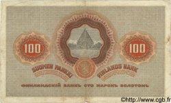 100 Markkaa FINLANDE  1909 P.031 TB+