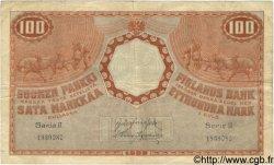100 Markkaa FINLANDE  1909 P.031 pr.TTB