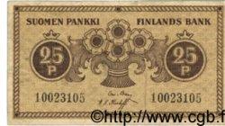 25 Pennia FINLANDE  1918 P.033 TTB