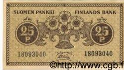 25 Pennia FINLANDE  1918 P.033 TTB+