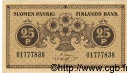 25 Pennia FINLANDE  1918 P.033 SPL