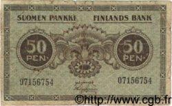 50 Pennia FINLANDE  1918 P.034 B+