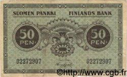 50 Pennia FINLANDE  1918 P.034 TB
