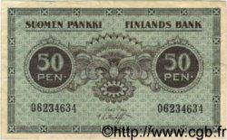 50 Pennia FINLANDE  1918 P.034 TTB