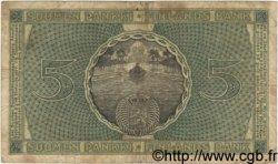 5 Markkaa FINLANDE  1918 P.036 B+
