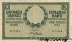 5 Markkaa FINLANDE  1918 P.036 TB à TTB