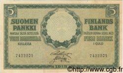 5 Markkaa FINLANDE  1918 P.036 SUP