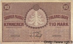10 Markkaa FINLANDE  1918 P.037 TB