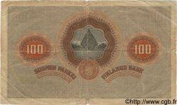 100 Markkaa FINLANDE  1918 P.040 pr.TB