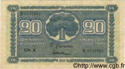 20 Markkaa FINLANDE  1922 P.051 TTB+