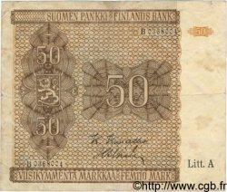 50 Markkaa FINLANDE  1922 P.052 TB+