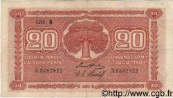 20 Markkaa FINLANDE  1922 P.058 TTB+
