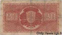 20 Markkaa FINLANDE  1922 P.063a B+