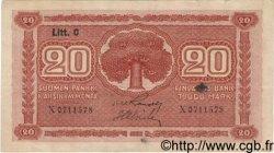 20 Markkaa FINLANDE  1922 P.063a TTB