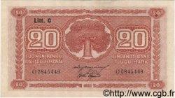 20 Markkaa FINLANDE  1922 P.063a SUP