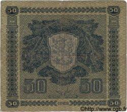 50 Markkaa FINLANDE  1922 P.064a TB