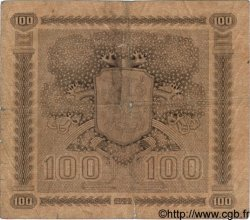 100 Markkaa FINLANDE  1922 P.065a B à TB