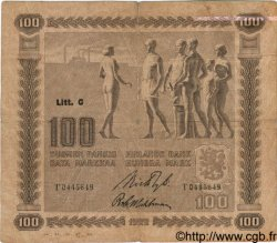 100 Markkaa FINLANDE  1922 P.065a TB