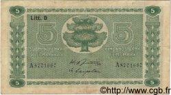 5 Markkaa FINLANDE  1939 P.069a TB