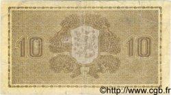 10 Markkaa FINLANDE  1939 P.070a B+