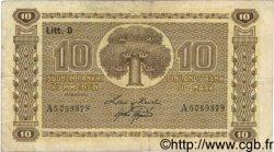 10 Markkaa FINLANDE  1939 P.070a TTB