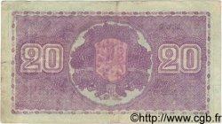 20 Markkaa FINLANDE  1939 P.071a TB à TTB