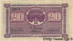 20 Markkaa FINLANDE  1939 P.071a pr.NEUF