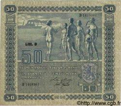 50 Markkaa FINLANDE  1939 P.072a TB+