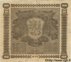 100 Markkaa FINLANDE  1939 P.073a TTB