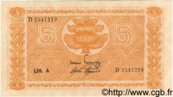 5 Markkaa FINLANDE  1945 P.076a NEUF