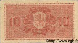 10 Markkaa FINLANDE  1945 P.077a TB à TTB