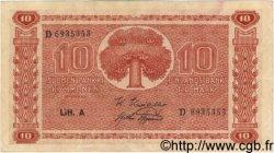 10 Markkaa FINLANDE  1945 P.077a TTB+