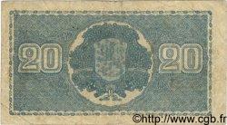 20 Markkaa FINLANDE  1945 P.078a TB