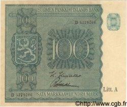 100 Markkaa FINLANDE  1945 P.080a SPL