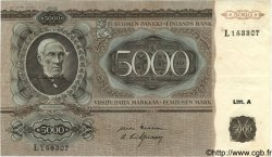 5000 Markkaa FINLANDE  1945 P.083a TTB+