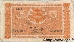 5 Markkaa FINLANDE  1945 P.084 TB
