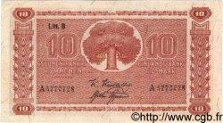 10 Markkaa FINLANDE  1945 P.085 TTB