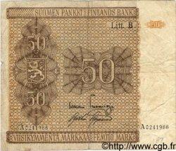 50 Markkaa FINLANDE  1945 P.087 TB