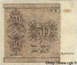50 Markkaa FINLANDE  1945 P.087 TTB+
