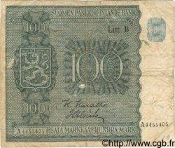 100 Markkaa FINLANDE  1945 P.088 B+