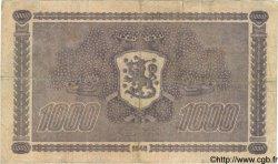 1000 Markkaa FINLANDE  1945 P.090 TB+
