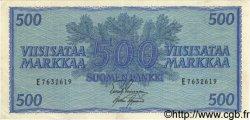 500 Markkaa FINLANDE  1955 P.096a SUP+