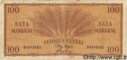 100 Markkaa FINLANDE  1957 P.097a TB