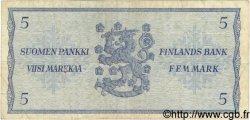 5 Markkaa FINLANDE  1963 P.099a TB+