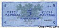 5 Markkaa FINLANDE  1963 P.103 TTB+